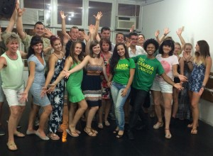 Dance class with our two instructors.
