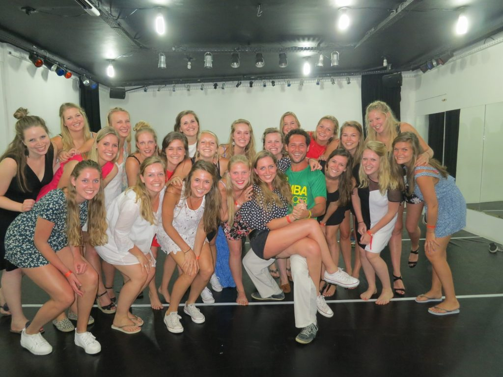 After our group dance class in Rio