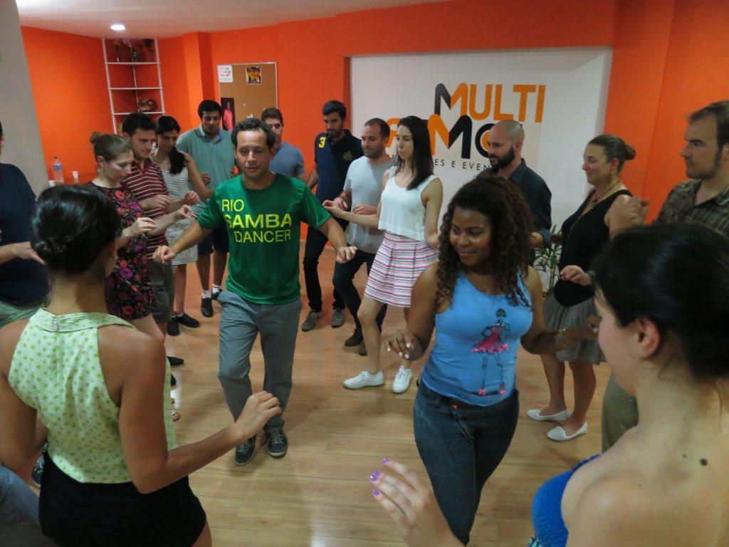 Samba dance class in Copacabana.
