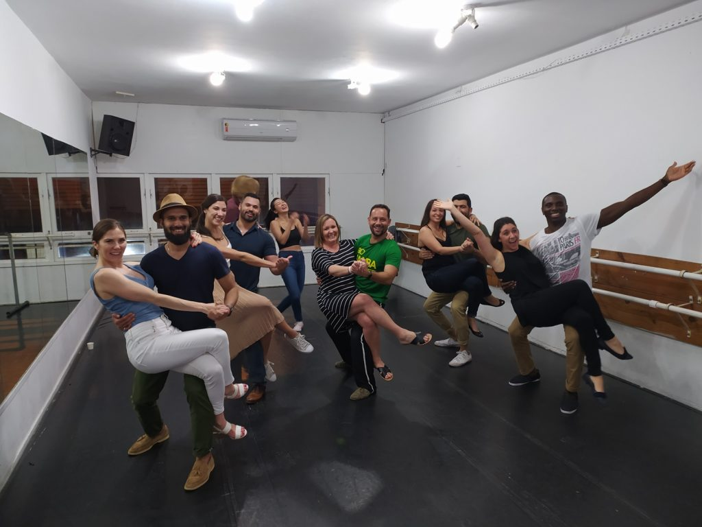 Samba pose after our dance class in Copcabana