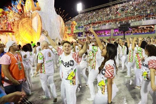 Samba on Carnival parade